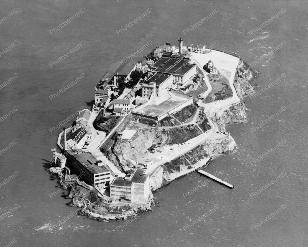 Alcatraz Island Aerial View 1930s 8x10 Reprint Of Old Photo 1 In