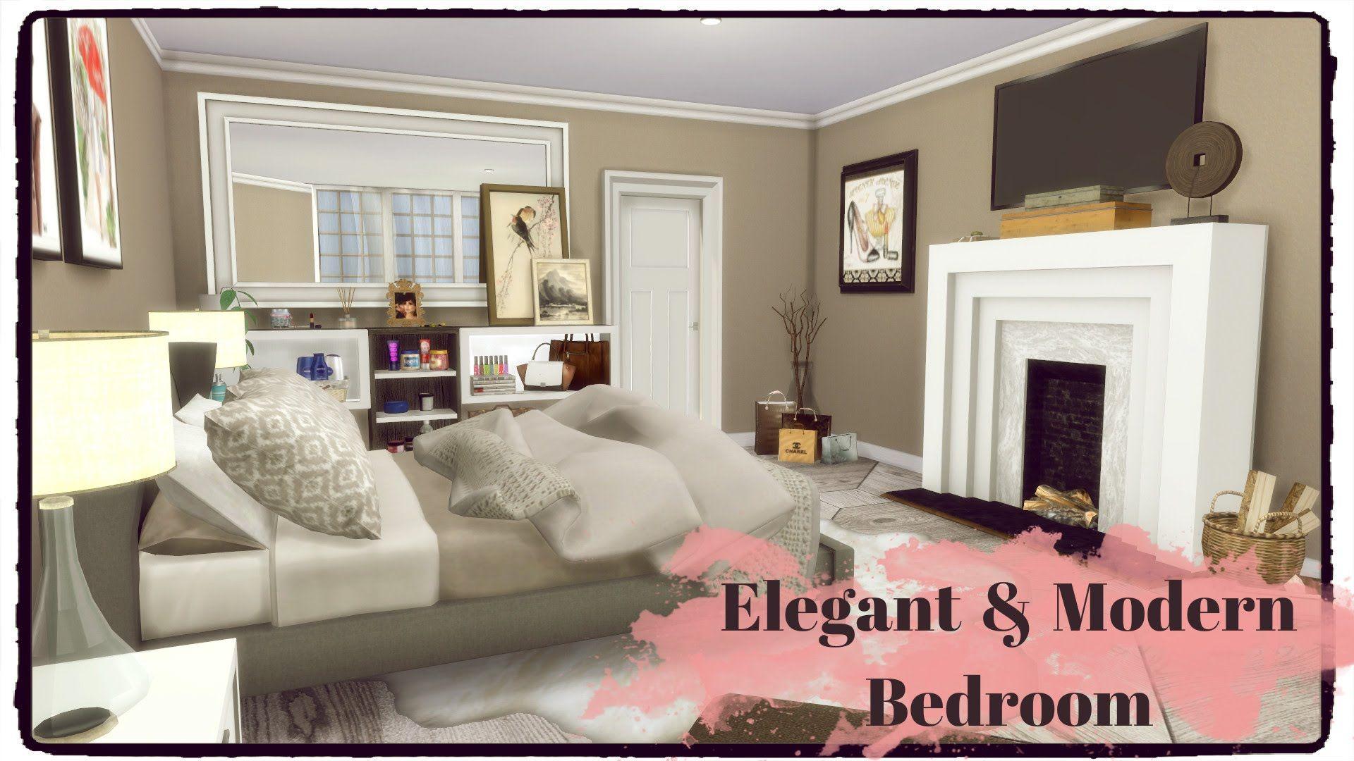 Sims 4 elegant modern bedroom