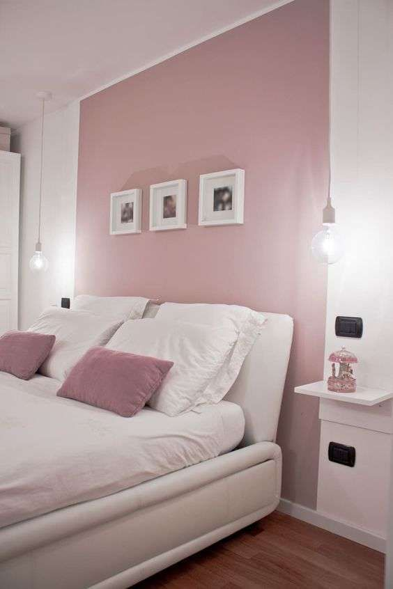 Colori pareti estate 2018 nel 2020 camera da letto rosa for Arredare parete camera da letto