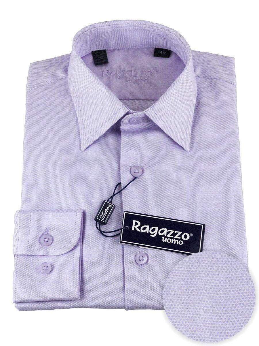Ragazzo 25492 100 Cotton Boys Dress Shirt Diamond Weave