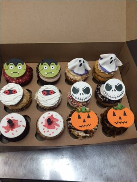 Halloween themed cupcake decorations! #halloweencupcakes - halloween cake decorations