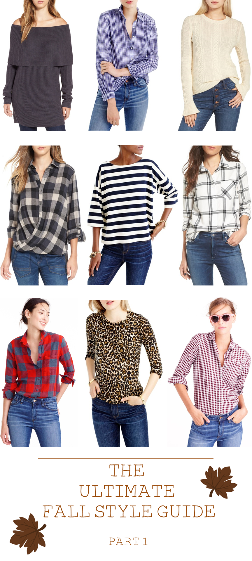 Beautifully Seaside - fall style guide with lots of plaid