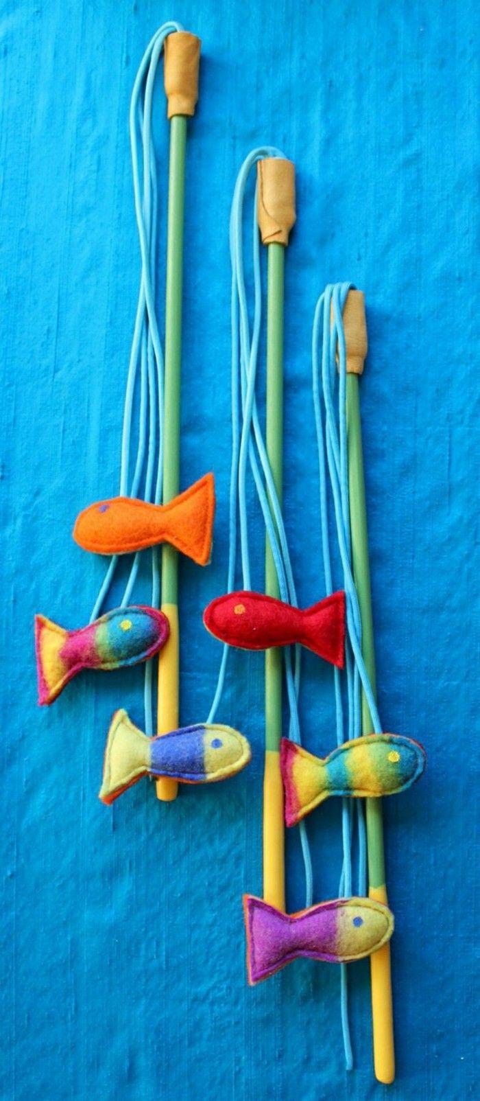 katzenspielzeug selber machen fische | Katzen | Pinterest | Crazy ...