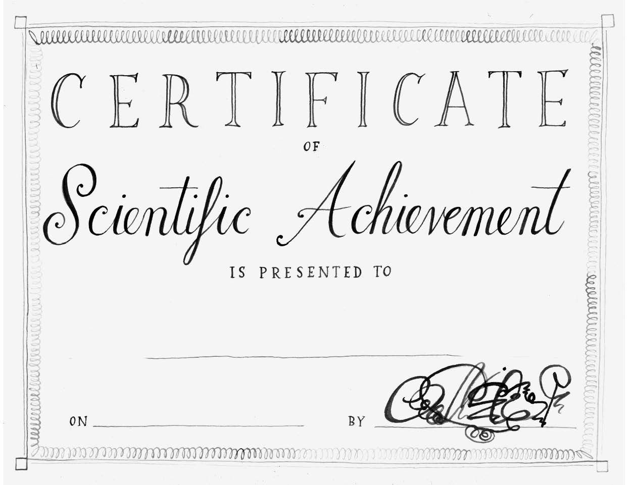 Ivy and Bean What's the Big Idea Certificate of