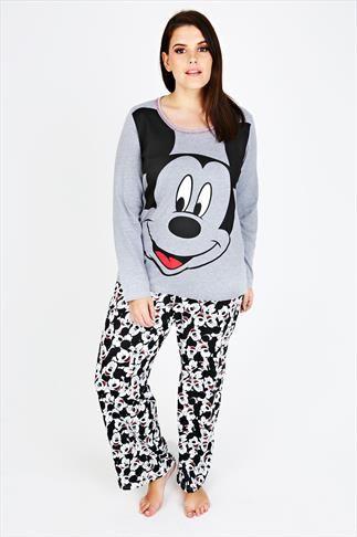 grey mickey mouse disney pyjama set