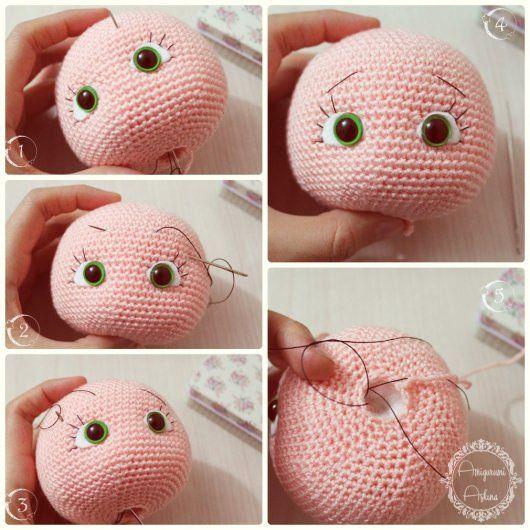 Amigurumi bebek ve resimli açıklamalı yapımı | Muñeca amigurumi ... | 530x530