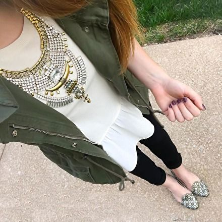 Stones and Gold Statement Necklace #ootd #fashionista -  24,90 € @happinessboutique.com