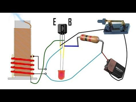 Diy Tesla Slayer Exciter Coil Tutorial Mini How To Build Easy Circuit Explanation Youtube Diy Tesla Coil Induction Heating Tesla