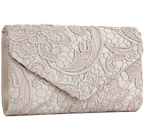 db73206e629 Jubileens Women's Elegant Floral Lace Envelope Clutch Eve... https://www