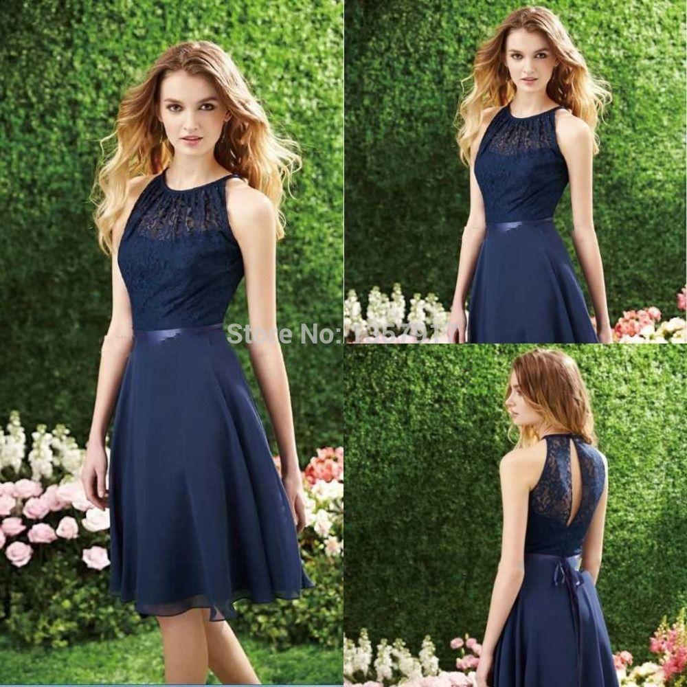 Short navy blue bridesmaid dresses fashion pinterest navy short navy blue bridesmaid dresses ombrellifo Choice Image