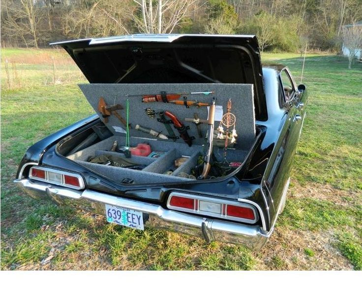 Supernatural Weapons Weapons Cache I Need One Of These - Supernatural show car
