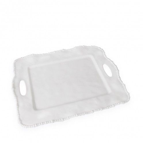 Vida Alegria Rect Tray With Handles White Beatriz Ball