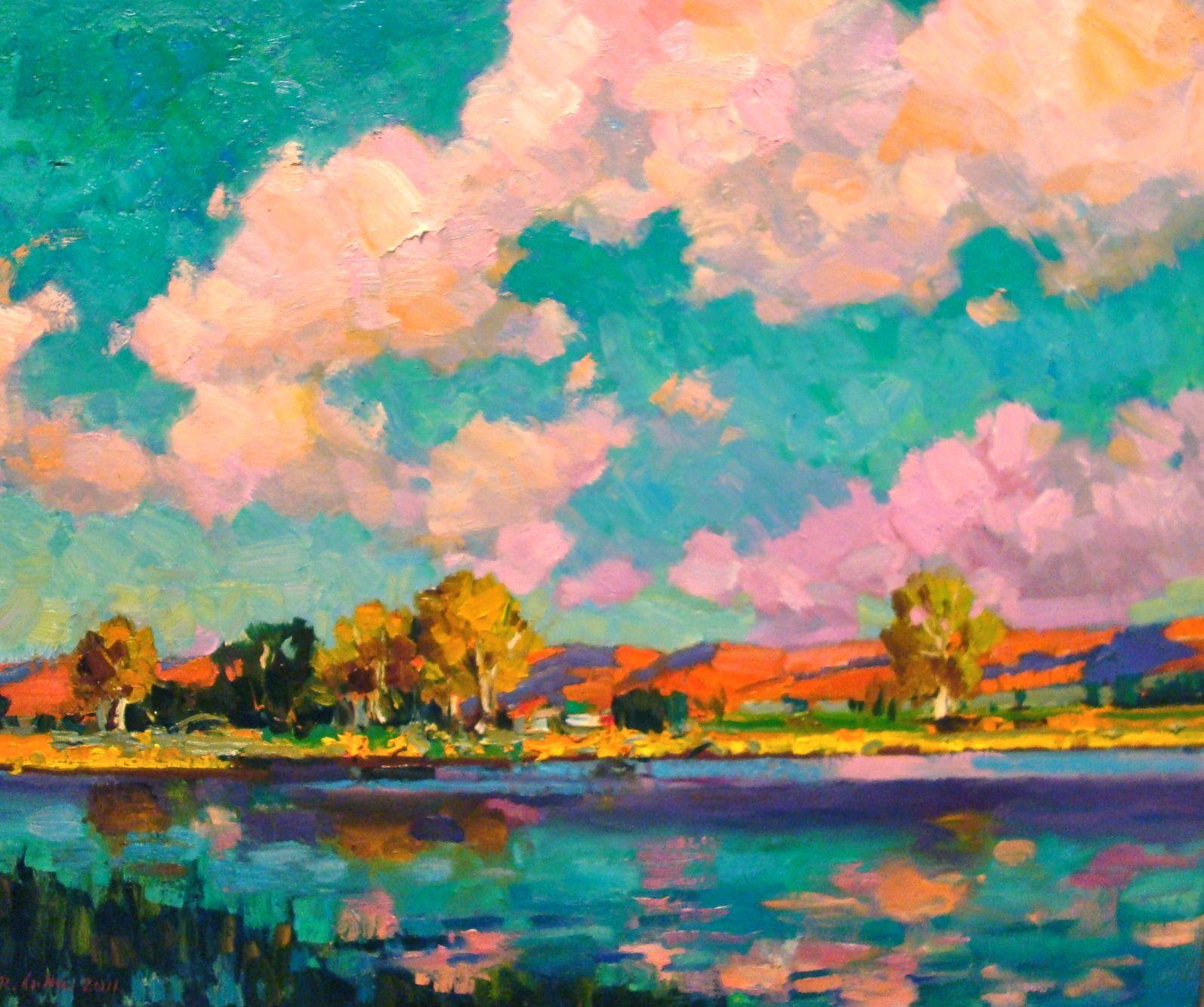 Strates pond Fauve | Fauves, Fauvisme, Peinture paysage