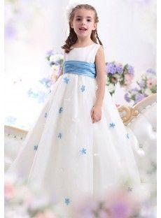 A-Line Ivory Flower Girl Dresses