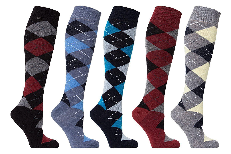 Ski Design Socks Black Gray Ladies Crew Length Snowflakes Ski Bum Sizes 9 to 11