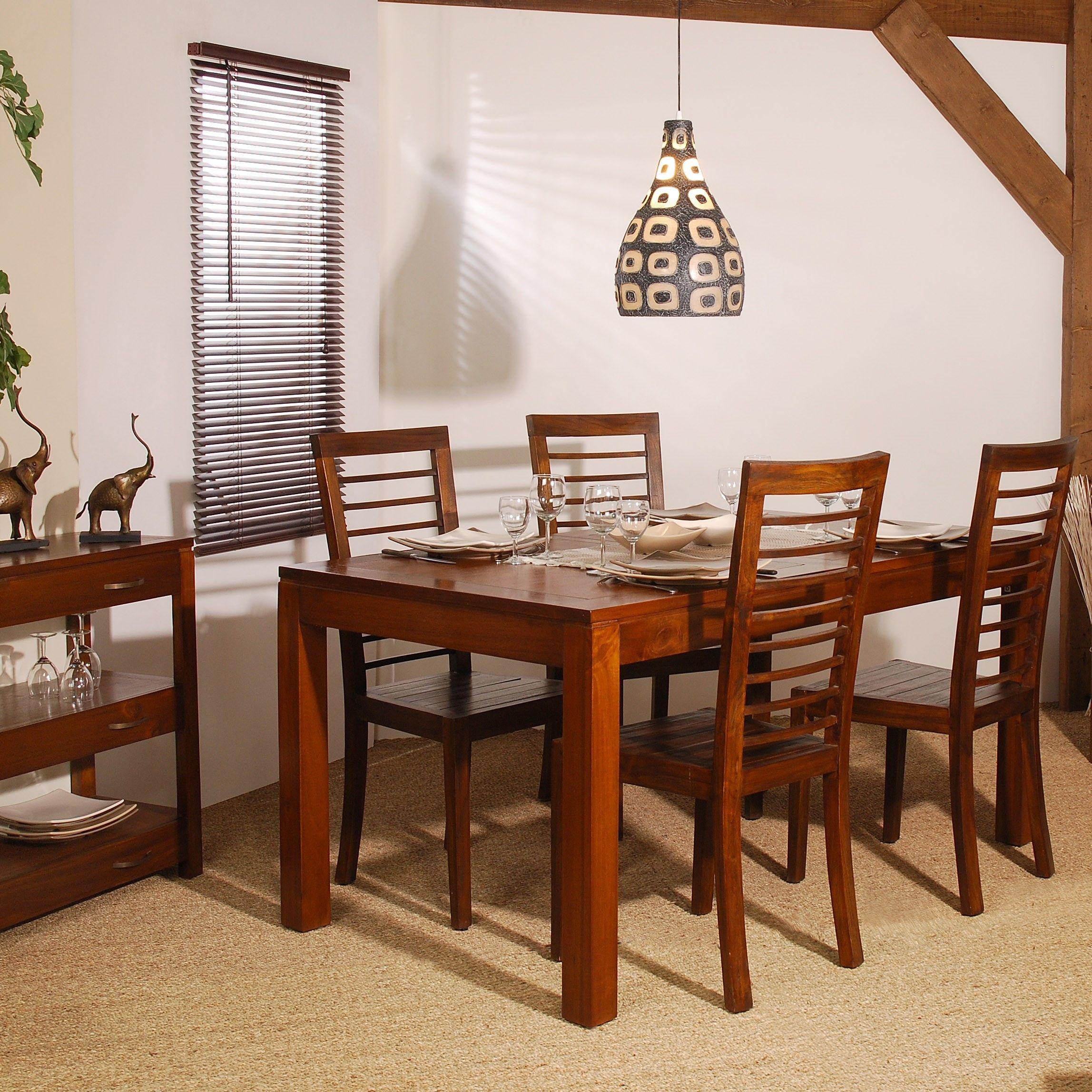 table repas allonge 140 190 x 140 cm