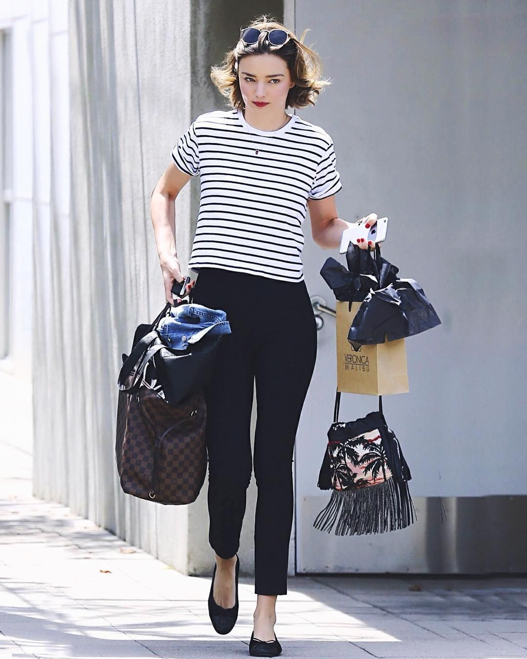 171a7437efe Miranda Kerr Just Wore the Most Audrey Hepburn Outfit via  WhoWhatWear