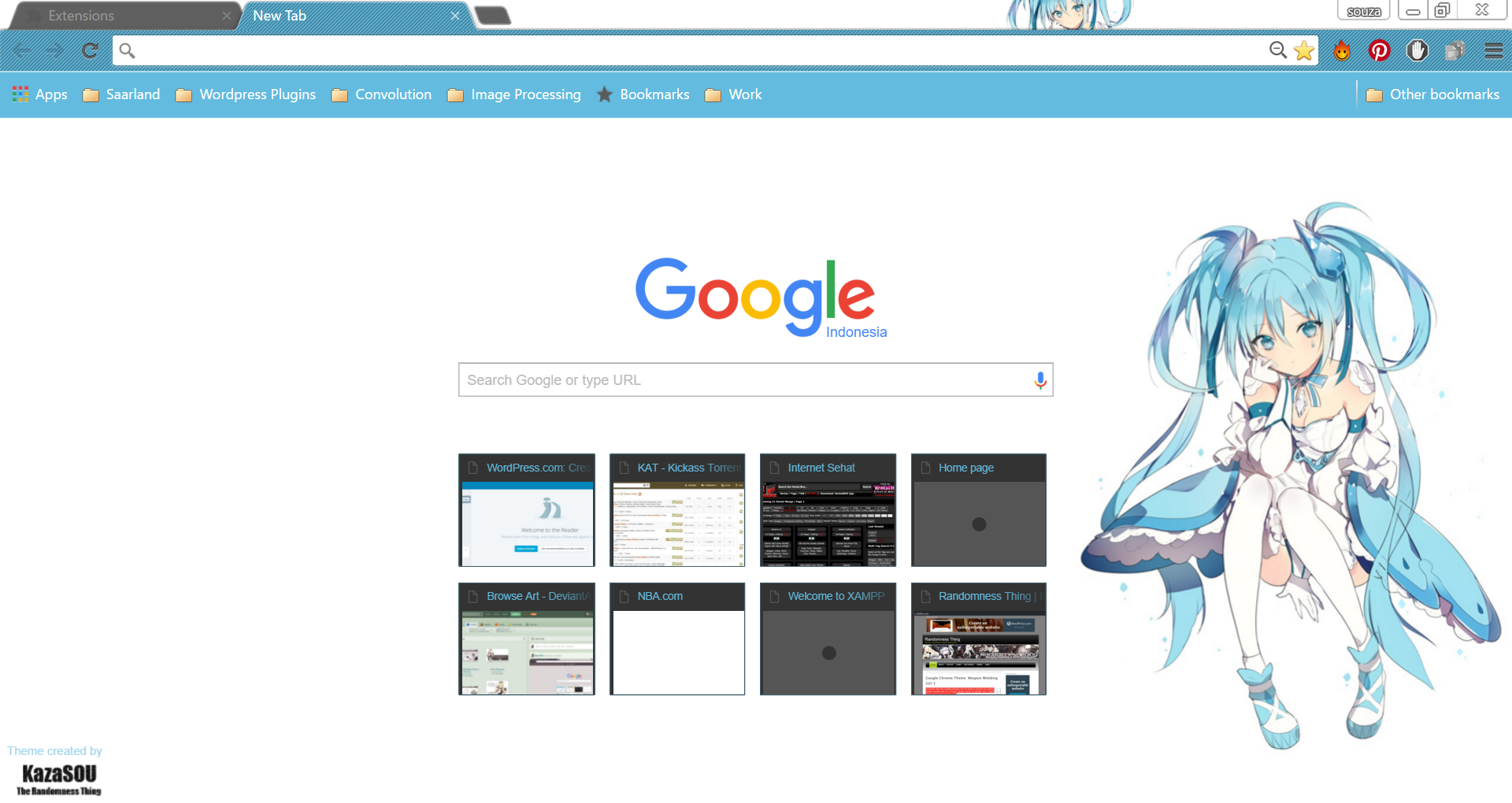 I'm featuring that previously made Hatsune Miku Rainmeter