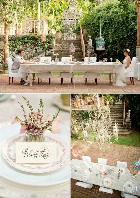Vintage Garden Wedding Ideas Bridal Shower Pinterest Tea
