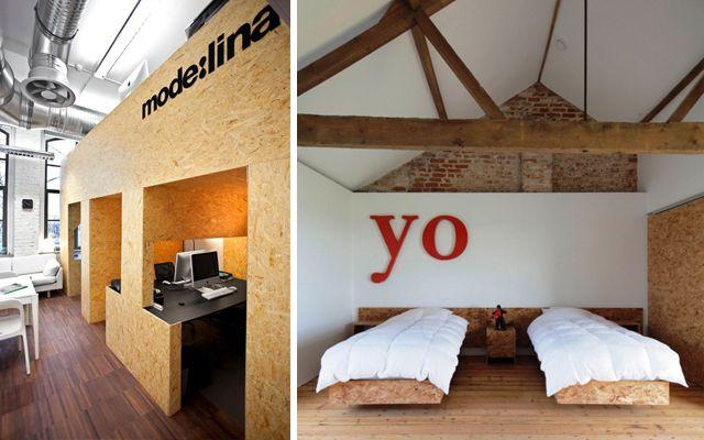 C mo decorar con tableros osb idee n voor het huis for Aplicaciones de decoracion de interiores