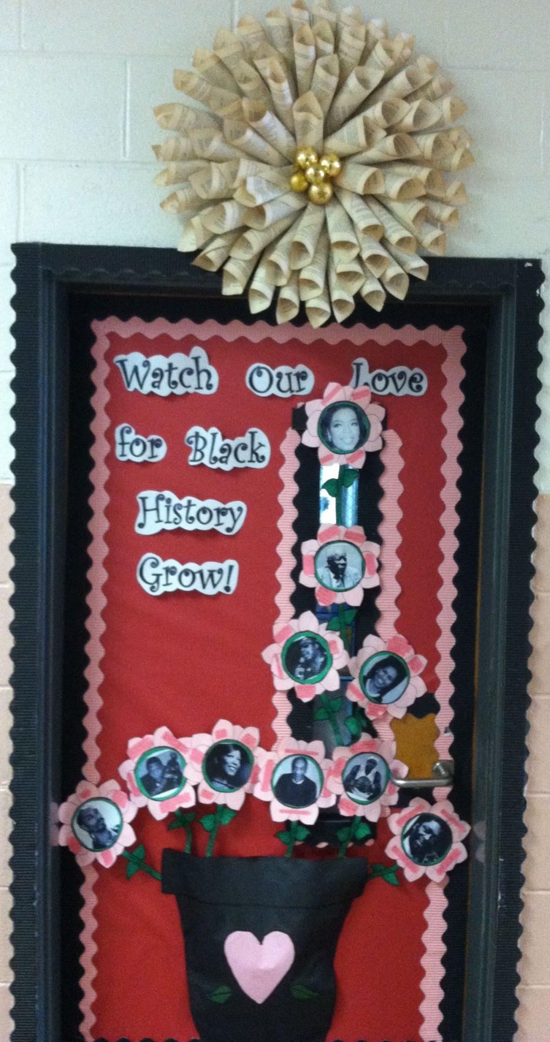History Classroom Decorations ~ Black history valentine s door my classroom doors