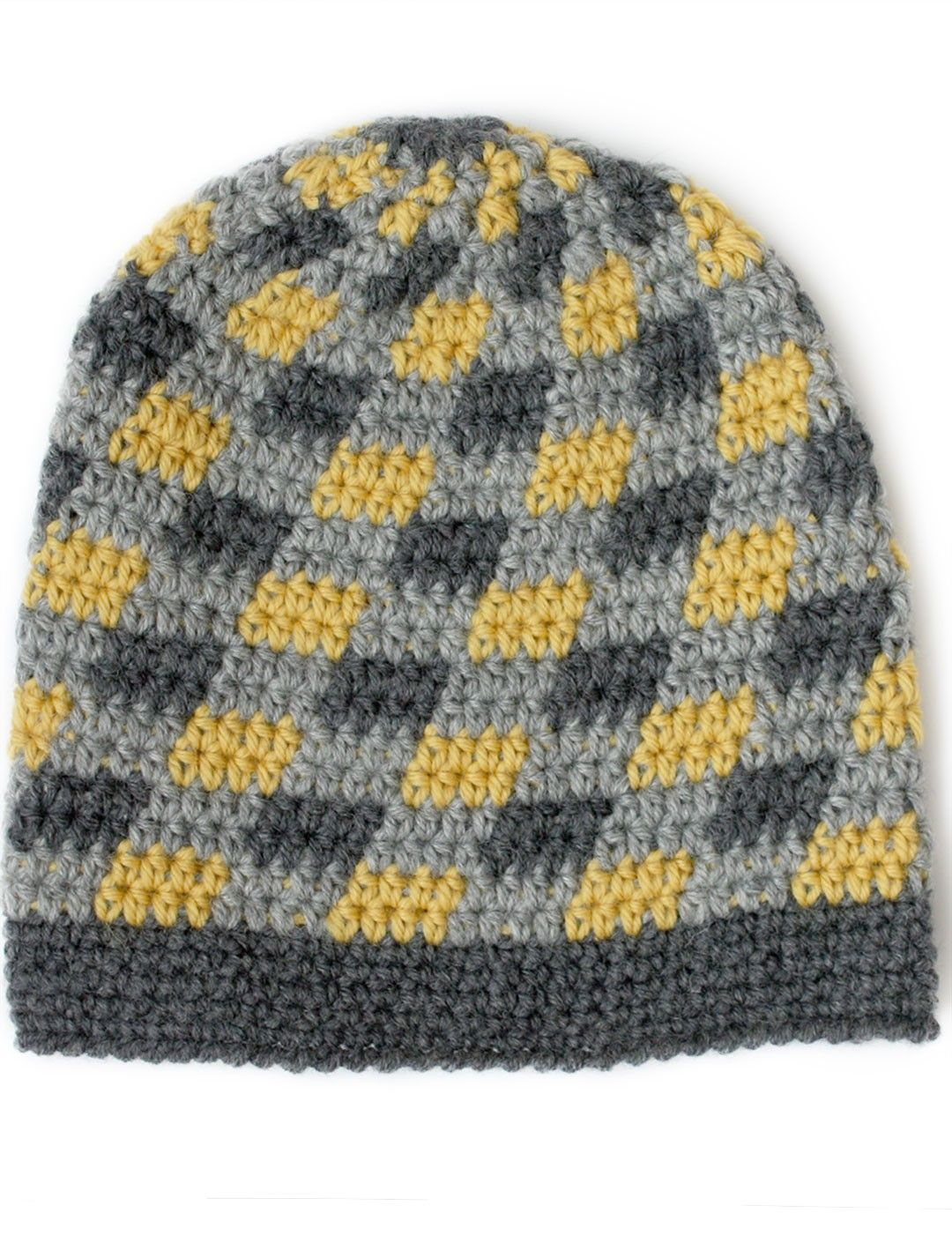 Yarnspirations.com - Patons Plaid Slouchy Beanie - Patterns ...