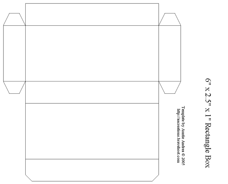 Rectangle Box Template Printable Projects To Try Box Templates