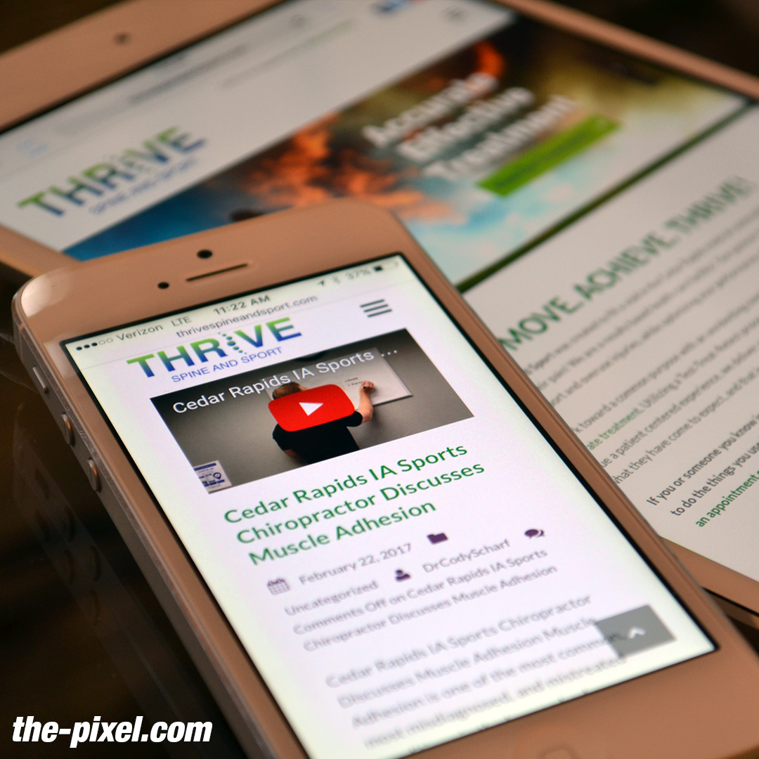Thrive Spine And Sport Custom Chiropracthic Web Design Web Design Custom Website Thrive