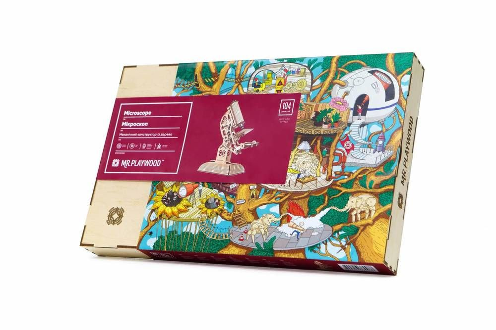 Wooden Marble Run Model Kit 3D Mechanical Puzzles for Kids
