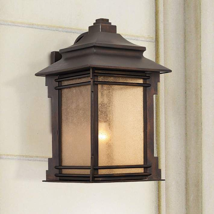 Franklin iron works hickory point 16 high outdoor light 09569 lamps plus exterior