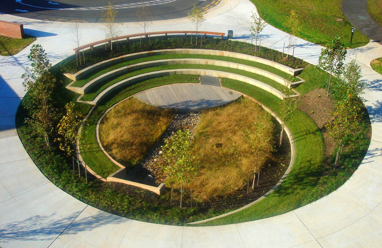 Amphitheater Bioswale Manassas Park Elementary School Virginia Vmdo Architects Dwell Landscape Architecture Landscape Architecture Design Landscape Design