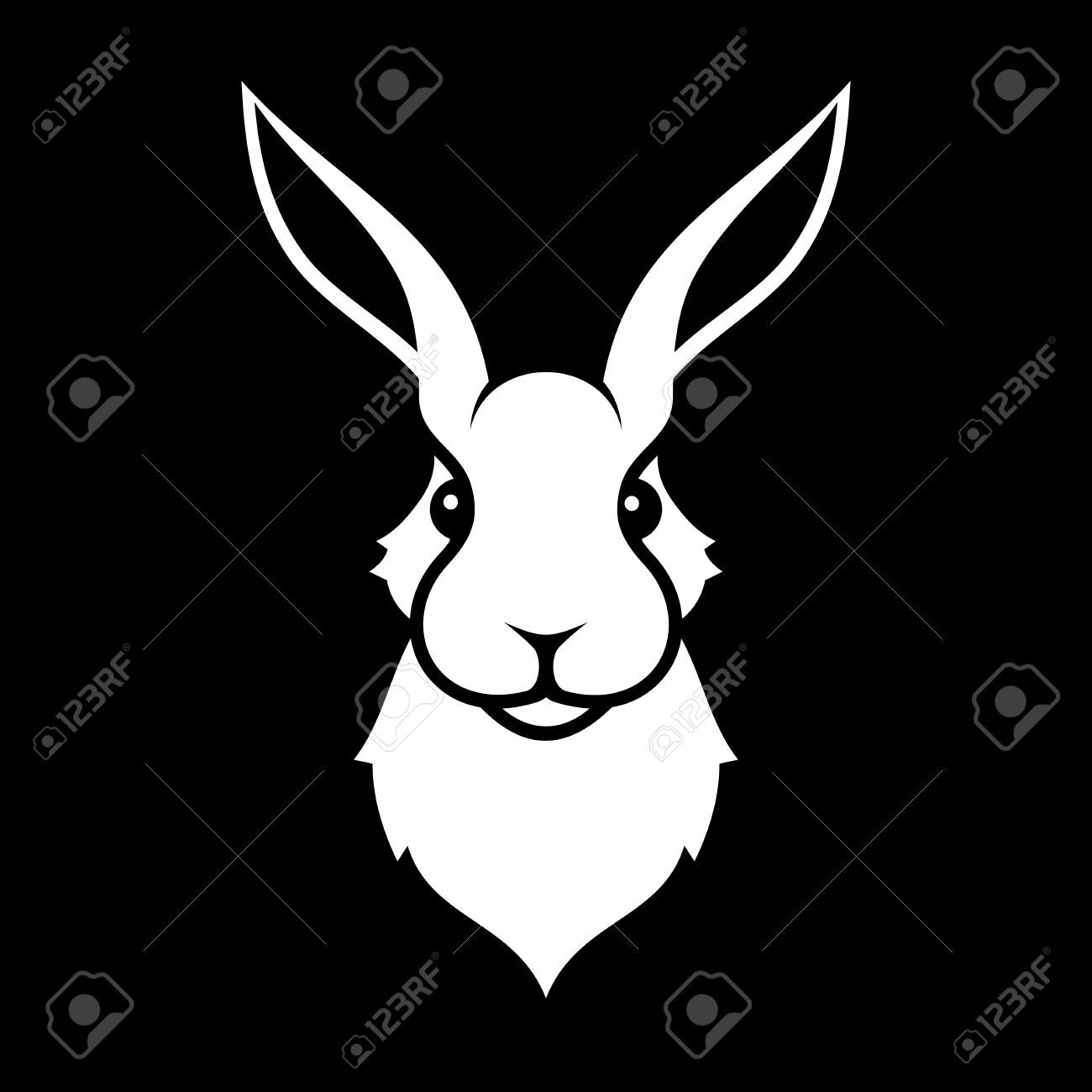 image result for free rabbit clipart black and white [ 1300 x 1300 Pixel ]