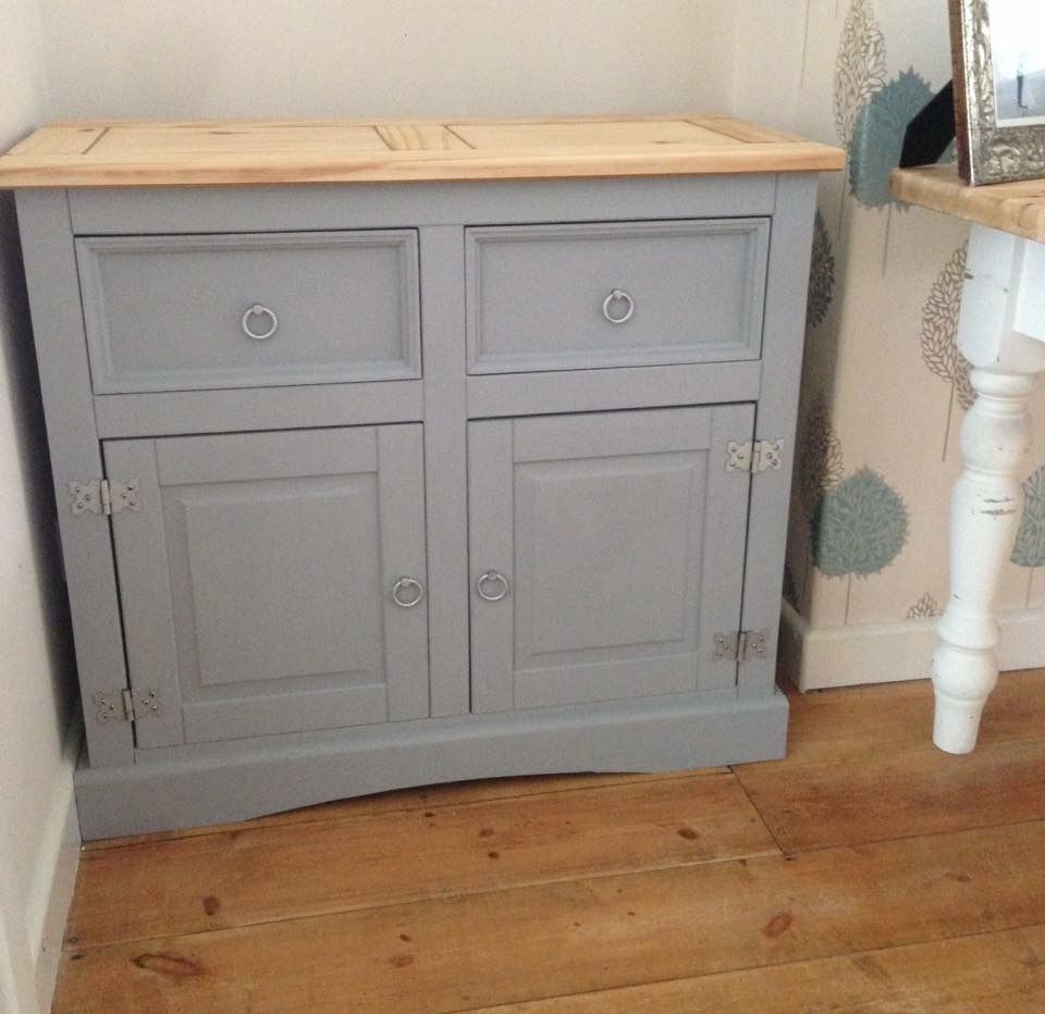 Mexican Pine Up Cycle With Frenchic Paint Grey Pebble Mexican Pine Furniture Frenchic Paint Furniture Pine Bedroom Furniture
