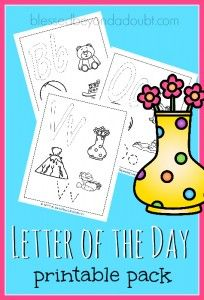 Free Letter A Day Printable Pack