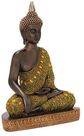 Deco 79 54946 Attractive Polystyrene Buddha, 12 W x 17 H #buddhadecor