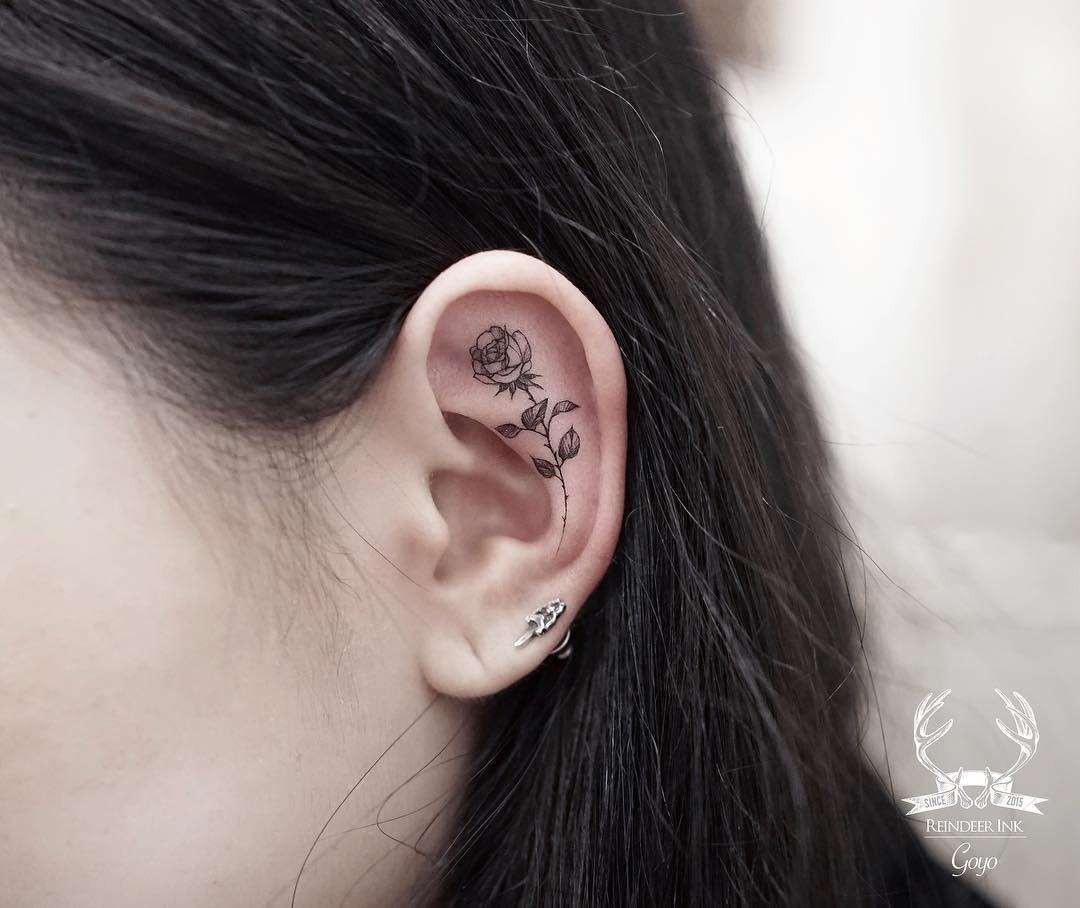 21++ Stunning Poppy flower tattoo behind ear image ideas
