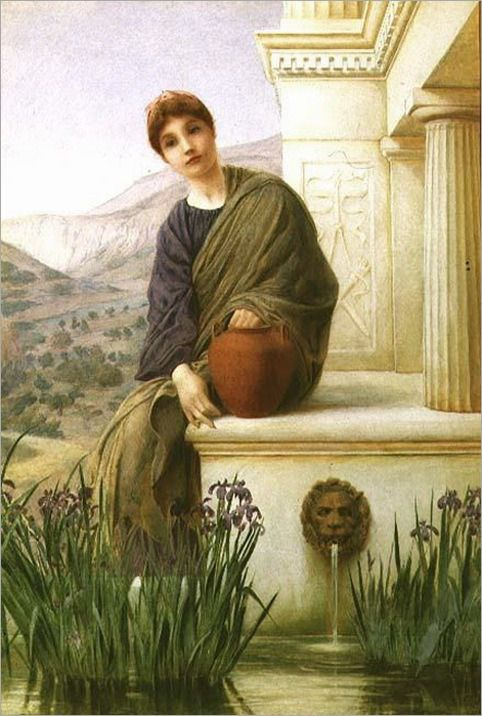 """At the Fountain"". (by Henry Ryland)."
