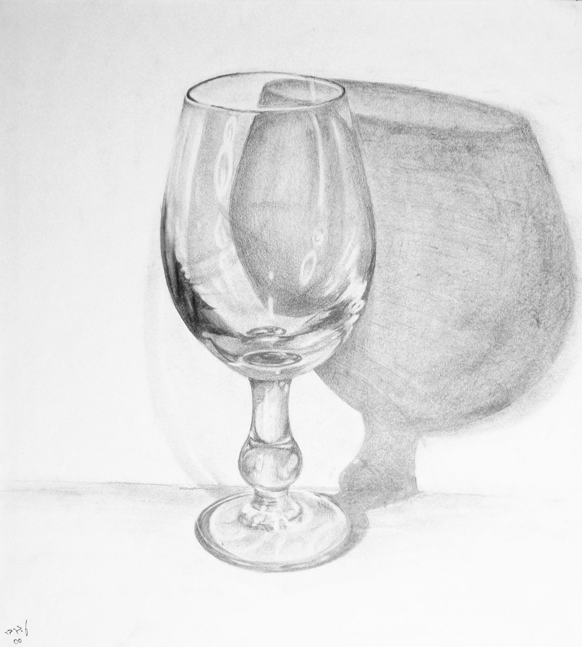 Glass 6b pencil my art in 2019 glass drawings sketch a day