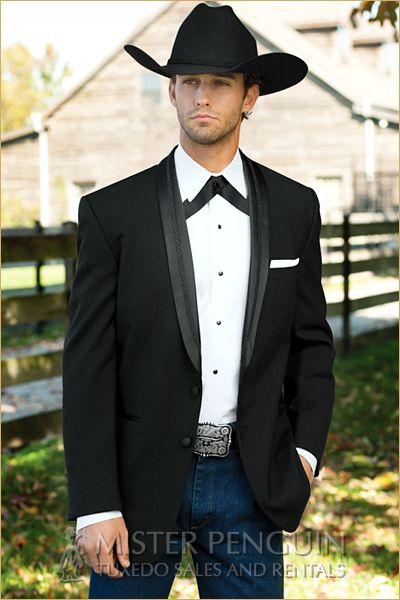 Black El Rey Western Tuxedo