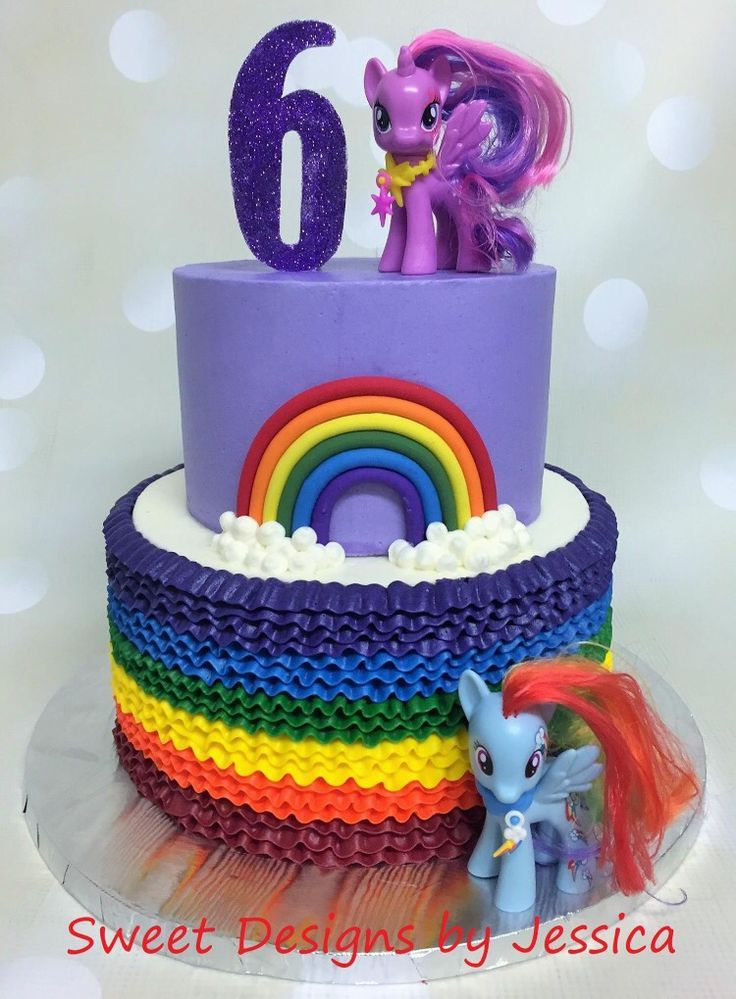 My Little Pony Cake Ideas Twilight Sparkle Rainbow Dash Cake