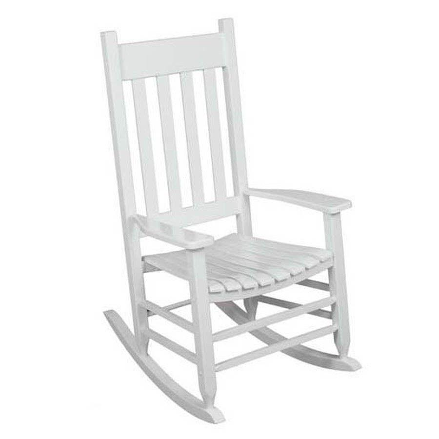 Traditional White Wooden Garden Furniture Rocking Chair