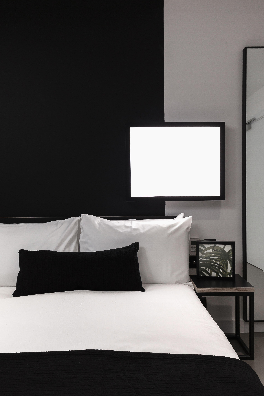 Minimalist Hotel Room: Double Room In Kip Hotel, London. Minimalist, Monochrome