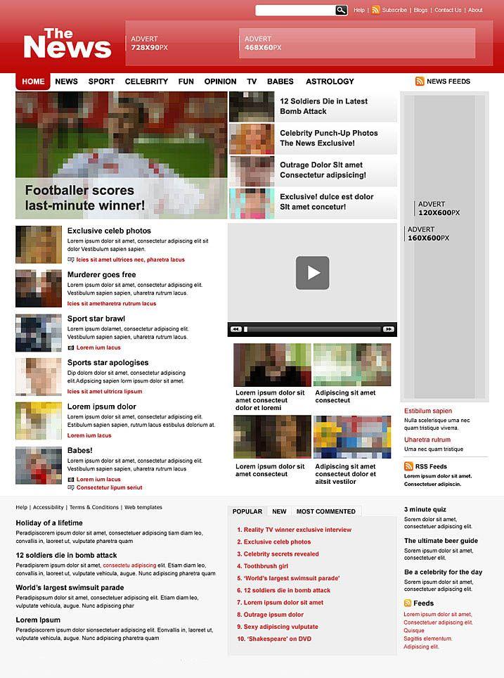 tabloid paper design | Free Tabloid newspaper template, Item #00106 ...