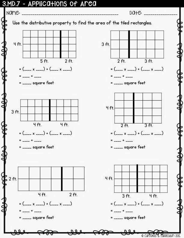 Teaching Distributive Property Using an Area Model – Area Model Multiplication Worksheets Grade 4
