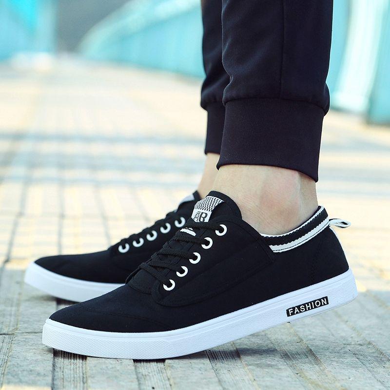 Summer Fashion Men Flat Shoes - Black 43 cheap genuine cheap marketable 2015 new c6sh0o4A