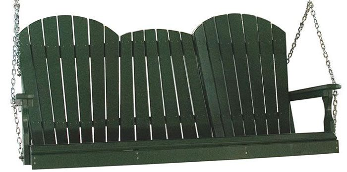 Amish Outdoor Adirondack Furniture   Poly Vinyl Four Or Five Ft Porch Swing Genuine  Amish