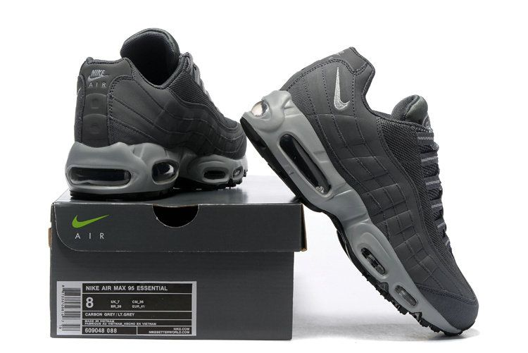 c490f4d6c8e5 2018 New Arrival Nike Air Max 95 Essential 20 Anniversary 609048 088 Charcoal  Grey Metallic Silver