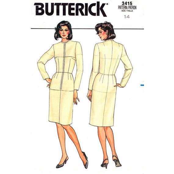 Womens Dress Fitting Pattern Butterick 3415 by finickypatternshop, $8.75