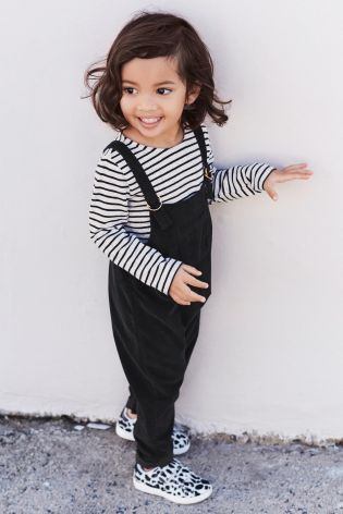 b3a5aaeecece Black Cord Dungarees And T-Shirt (3mths-6yrs)