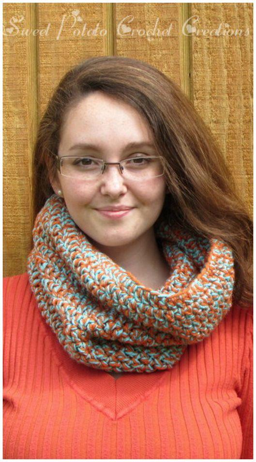 Free Easy Double Crochet Cowl Pattern   Cuellos tejidos, Temporadas ...